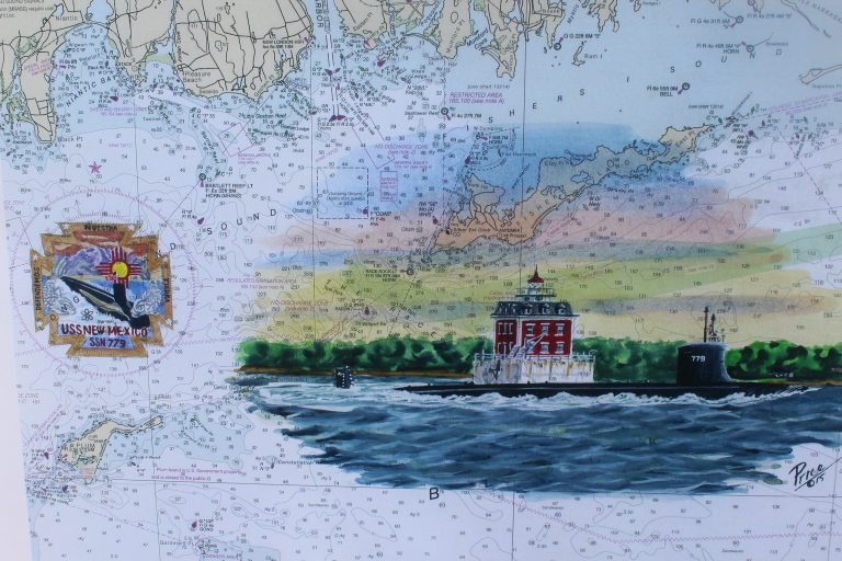 Submarine Lighthouse Painting SSN 779 USS New Mexico Long Island