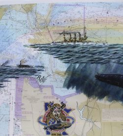 Submarine Painting by Dan Price USS Minnesota SSN 783