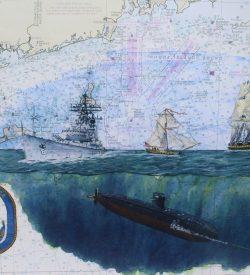 Submarine Painting by Dan Price USS Providence SSN 719 Original Artowrk