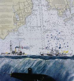 Submarine Painting by Dan Price USS Miami SSN 755