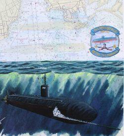 Submarine Painting by Dan Price USS Springfield SSN 761