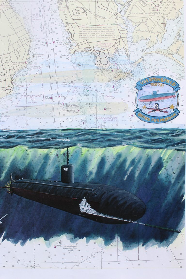 Submarine Painting by Dan Price USS Springfield SSN 761