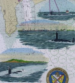 Submarine Painting by Dan Price USS Alexandria Original Artwork