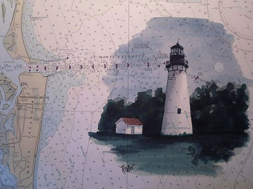 Amelia Island Lighthouse artwork by Daniel Price