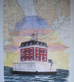 Ledge Light Lighthouse Dan Price Original Artwork