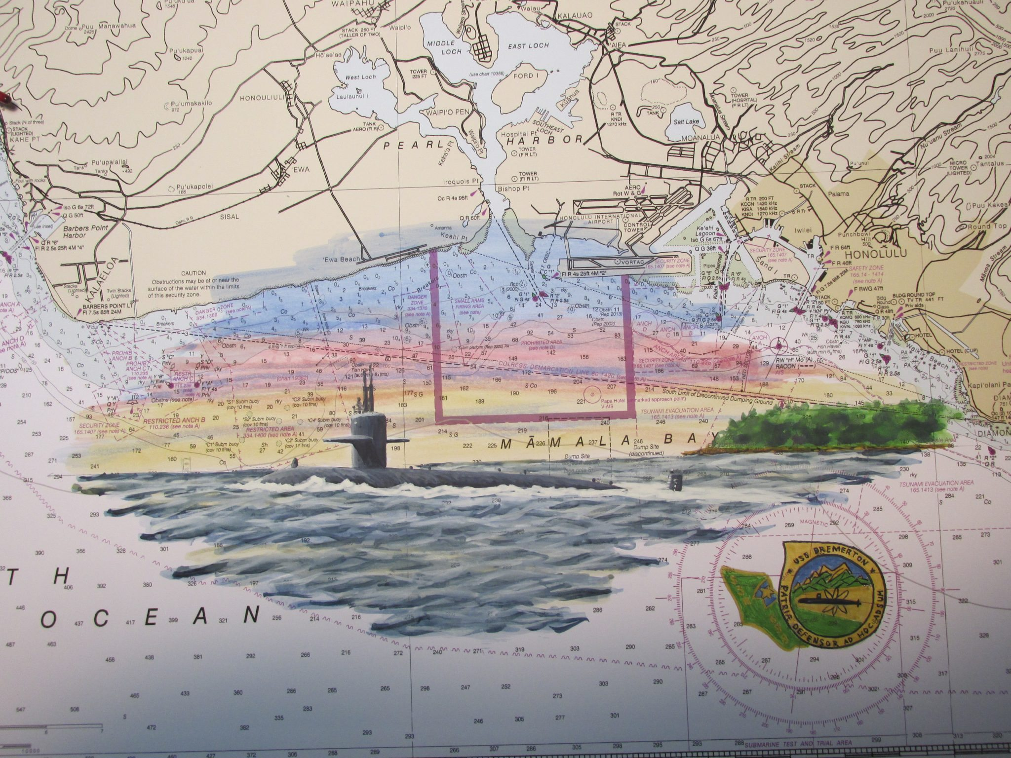 USS Bremerton SSN 698 Submarine Daniel Price Artwork
