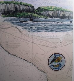 Submarine Painting USS Buffalo, SSN 715, Guam