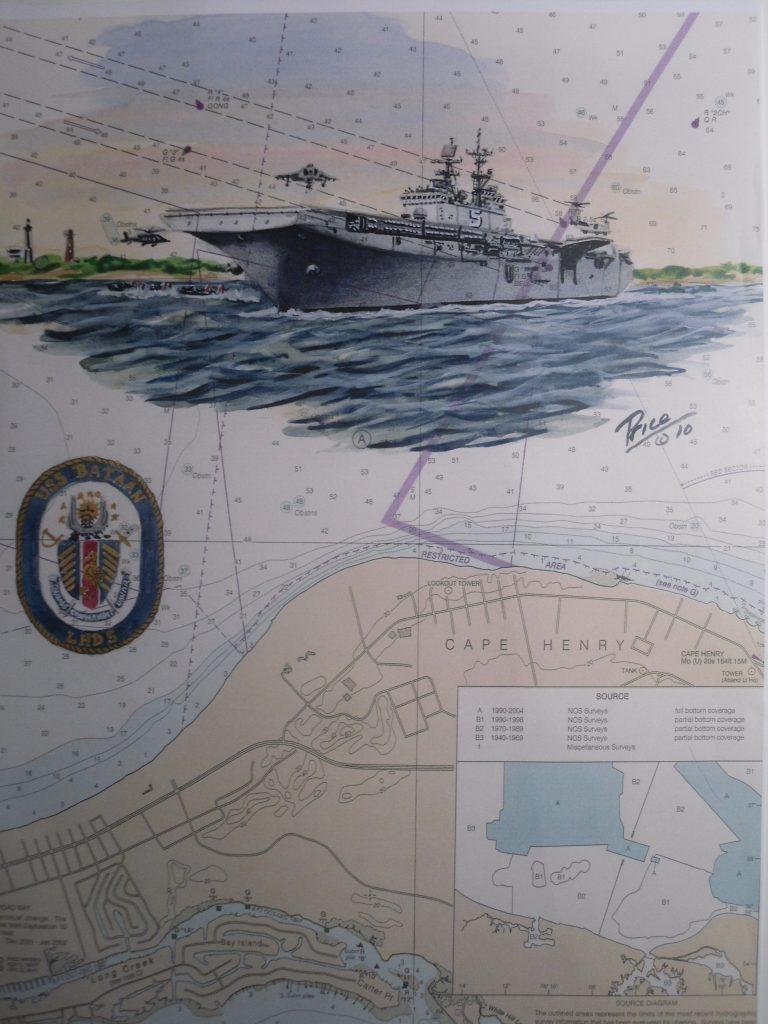 USS Bataan LSD 5 Ship Art by Daniel Price