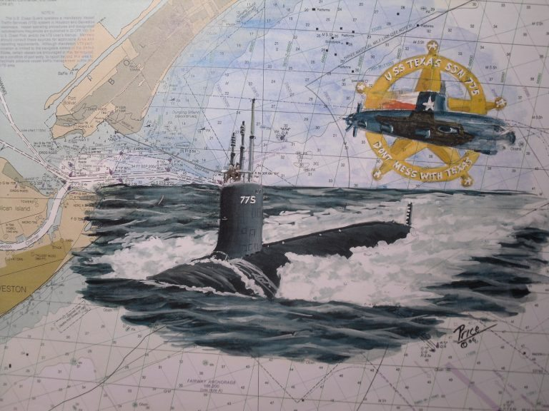 USS Texas SSN 775 Submarine artwork by Daniel Price