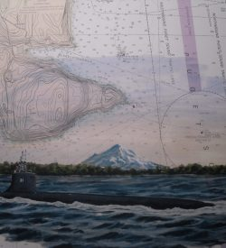 USS Seawolf SSN 21 Bremerton WA Submarine Painting by Daniel Price