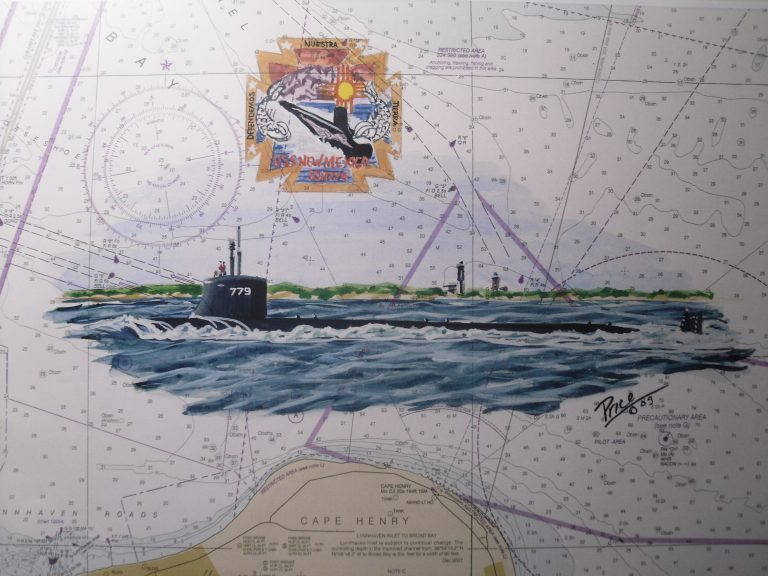 USS New Mexico SSN 779 Submarine Artwork by Daniel Price