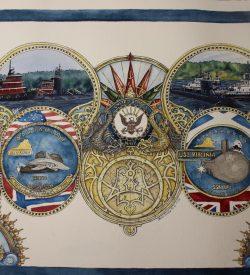 USS Virginia Submarine Painting