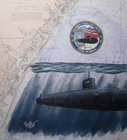 USS North Carolina SSN 777 Submarine Art by Daniel Price
