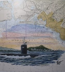 Submarine Artwork by Daniel Price USS Tucson, SSN 770, Off Diamond Head, Hawaii