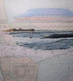 SSBN Kings Bay Georgia Painting with Chart by Daniel Price