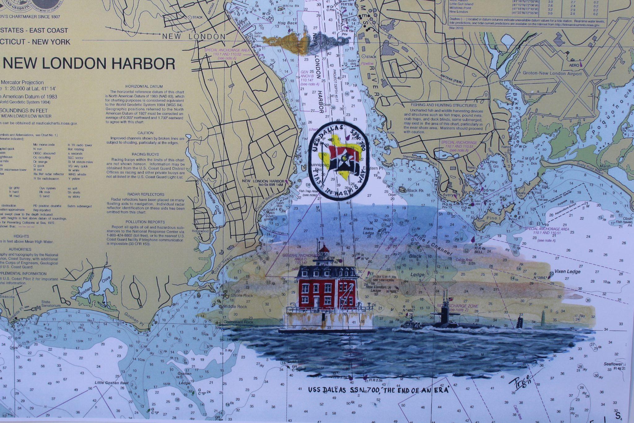 USS Dallas The End of an Era Chart by Artwork Daniel Price