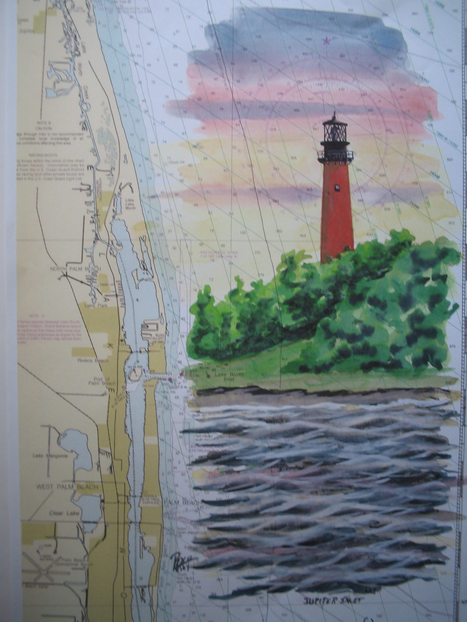 Juniper Inlet Lighthouse Painting by Daniel Price