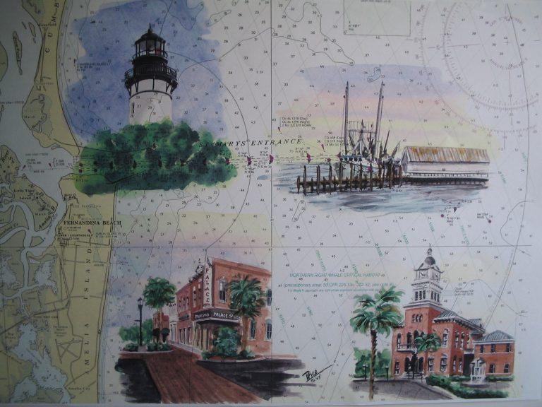 Amelia Island Florida Painting by Daniel Price