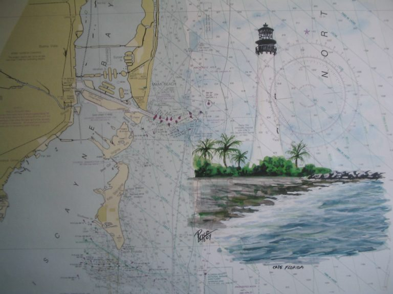 Cape Florida Lighthouse Miami Painting by Daniel Price