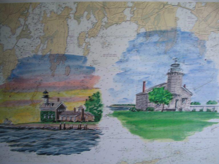 Stonington Harbor Lights by Daniel Price Painting