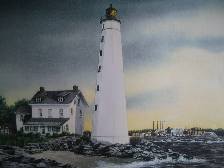 New London Lighthouse Painting by Daniel Price