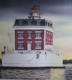 Ledge Light Lighthouse New London Painting by Daniel Price