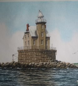 Race Rock Lighthouse Artwork by Daniel Price