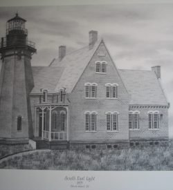 Block Island Lighthouse - Artwork by Daniel Price