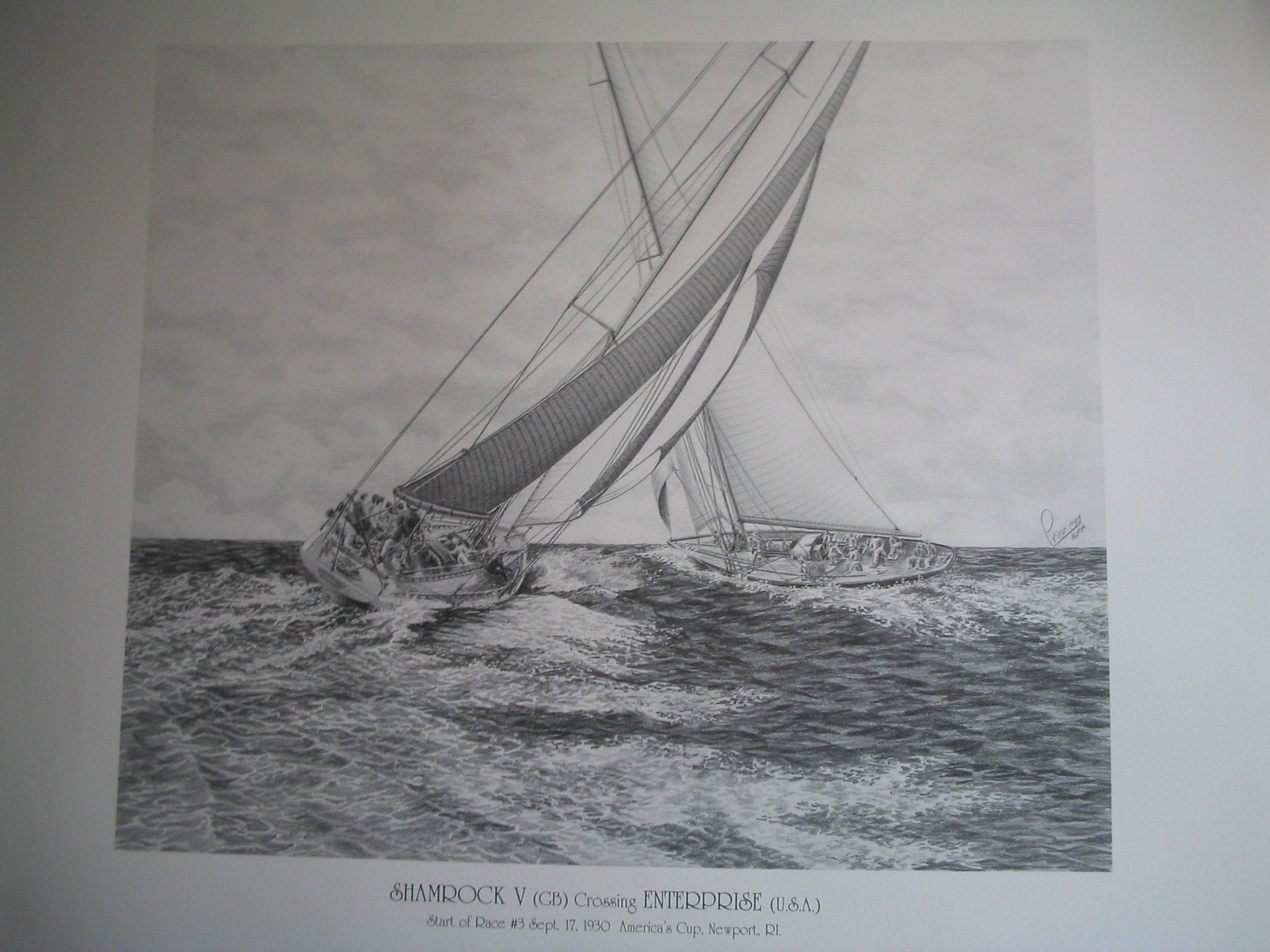 Shamrock vs Enterprise Artwork by Daniel Price